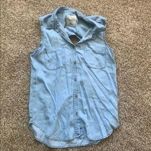 American Eagle Outfitters Denim Tank